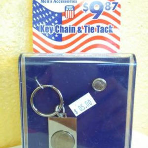 New Key Ring and Tie Tac